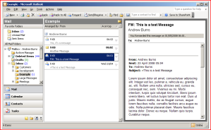 Outlook 2003 with a 'Save to SharePoint' button