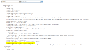 Search XML from Query, with File Extension information.