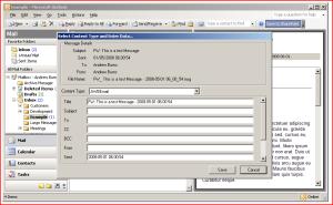 Item Metadata form for different content type.
