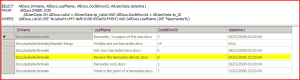 SQL Server view of documents with dates near the summer-time boundary