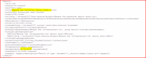 XML view of results from the search webservice for document dates around the summer time boundary