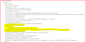 Hit Highlighting properties in the Search Results XML