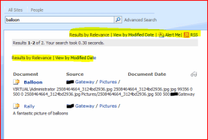 Screenshot with Two Actionlinks shown