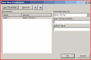 Parameters Dialog in SharePoint Designer