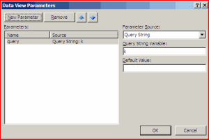 Parameters Dialog in SharePoint Designer