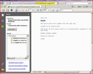 PDF Hit Highlighting in Reader via URL