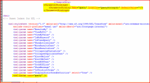 Code supporting parameters in SharePoint Designer.