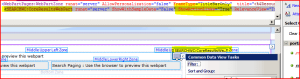 Screenshot of SharePoint Designer, showing a second Core Results Web part