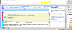 SharePoint Designer view of Results page, showing that ShowActionLinks is already False