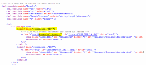 XSL for PDF Hit Highlighting via URL