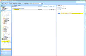 Outlook showing the Pages library, but can't preview the page.