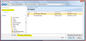 File Selection from Images Library