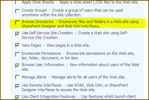 The Browse Directories permission
