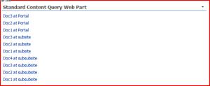 Standard content query web part