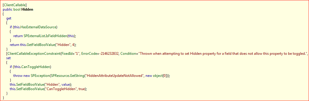 Hidden fields, and controlling them with the Object Model