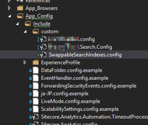 Example Visual Studio Structure